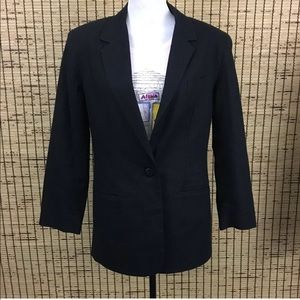 Women's Linen Blend Blazer Size 10 Office Jacket